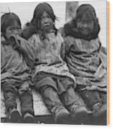 Alaska Eskimo Children Wood Print