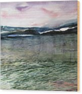 Alaskan Waters Wood Print