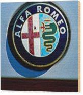 Alfa Romeo Emblem Wood Print