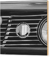 Alfa-romeo Grille Emblem Wood Print