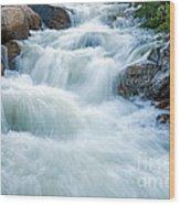 Alluvial Fan Falls On Roaring River In Rocky Mountain National Park Wood Print