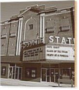 Alpena Michigan - State Theater Wood Print