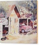 Al's Auto Shop Wood Print
