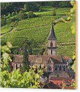 Alsace Church Wood Print