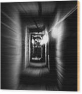 Altered Image Of A Tunnel Leading Out Of The Catacombs In Paris France Wood Print