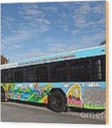 Ameren Missouri And Missouri Botanical Garden Metro Bus Wood Print