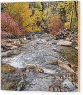 American Fork Canyon Creek In Autumn - Utah Wood Print