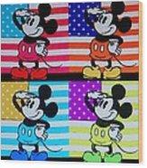 American Mickey Wood Print