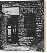 American Pool Hall Facade Version 1 Ghost Town Jerome Arizona 1968 Wood Print