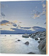 An Evening At Tahoe Wood Print