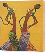 An Indian Dance Form Wood Print