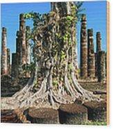 Ancient Temple Ruins Wood Print