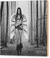 Angel In The Forest Wood Print