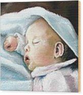 Angel Sleeping Wood Print by Lenore Gaudet