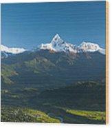 Annapurna Peak - Nepal Wood Print