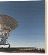 Antenna At Very Large Array Wood Print