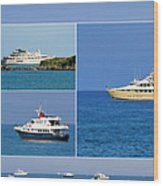 Antibes - Superyachts Of Billionaires Wood Print