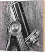 Antique Microscope Wood Print