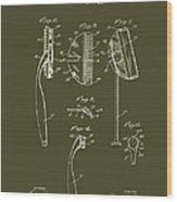 Antique Safety Razor Patent 1926 Wood Print