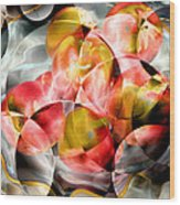 Apple Bowl Wood Print