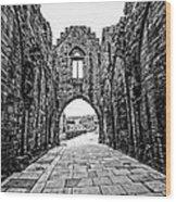 Arbroath Abbey Wood Print