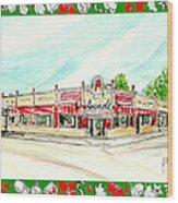 Arcade Restaurant Memphis Wood Print