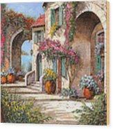 Archi E Fiori Wood Print