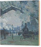 Arrival Of The Normandy Train Wood Print
