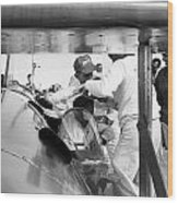 Art Arfons In Cockpit Of Green Hornet Wood Print