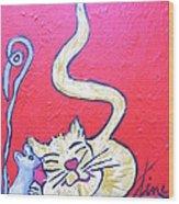 Art Cat Wood Print