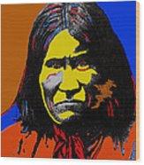 Art Homage Andy Warhol Geronimo 1887-2009 Wood Print