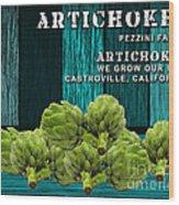 Artichokes Farm Wood Print