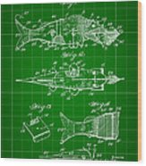 Artificial Bait Patent 1923 - Green Wood Print