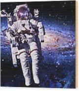 Astronaut Wood Print