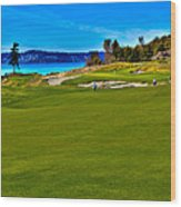 #2 At Chambers Bay Golf Course - Location Of The 2015 U.s. Open Championship Wood Print by David Patterson