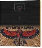 Atlanta Hawks Wood Print