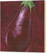 Aubergine Wood Print