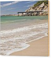Australian Beach Wood Print