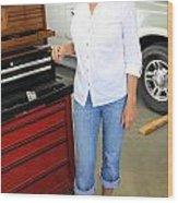 Auto Mechanic. Wood Print