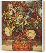 Autumn Blossoms Wood Print