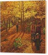 Autumn Bush Creek Track  Wood Print