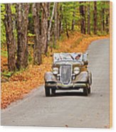Autumn Drive Wood Print