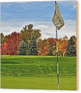 Autumn Golf Wood Print