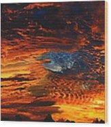 Awe Inspiring Sunset Wood Print