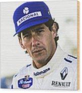 Ayrton Senna Wood Print