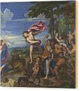 Bacchus And Ariadne Wood Print