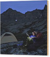 Backpacking Alaska Chugach Mountains Wood Print
