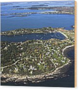 Bailey And Orrs Islands, Harpswell Wood Print