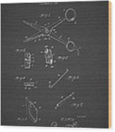 Barber Shears Patent 1927 Wood Print