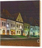 Bardejov At Night Wood Print